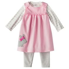 JUST ONE YOU® Made by Carters Newborn Girls' 2 Piece Set - Pink/White