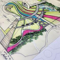 원..넘나어려운것..힘좀 빼야되는데..레이어를바꿔보자 Bs #Environmental #Design #Group #LandscapeArchitecture & #Associates #sketch #drawing #plan #note #conceptplan