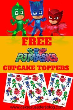 PJ Masks Free printable cupcake toppers