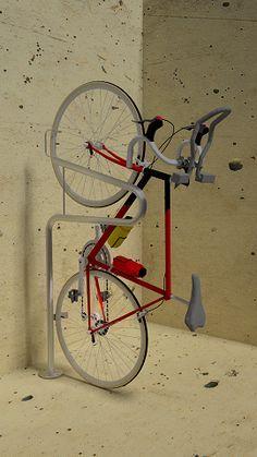 Stand Up Floor Mount - Vertical Bike Parking - Commercial Bike Racks   Bike Security Racks