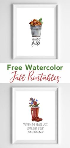 fall wall decor | free printable art | fall home decor | watercolor art | free printables