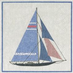 Boat Lunch Napkins - Nautical - Party Themes PlatesAndNapkins.com