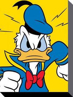 Donald Duck - Disney - Mad - Official Canvas Print