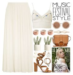 """""""MUSIC FESTIVAL STYLE - POLYVORE CONTEST"""" by evangeline-lily ❤ liked on Polyvore featuring Elizabeth and James, House of Holland, Hermès, Universal Lighting and Decor, Gianvito Rossi, Allstate Floral, Cara, Urban Originals, festivalfashion and Spring2017"""