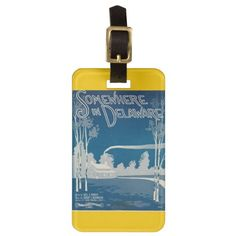 Somewhere In Delaware Luggage Tag