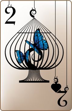 Trapped Theme :: 2 of Spades by ~ciomaria on deviantART www.fb.com/madamastrology offers- Complete Free #Natal-Chart and Free #Tarot Readings!