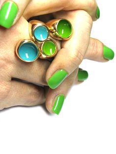 enamel rings by Monica Castiglioni www.monicacastiglioni.com