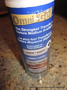omni-gel from Michaels for transfering images from paper to wood/metal/etc.