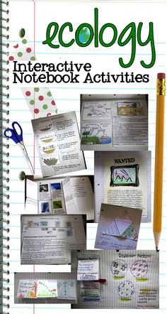 Twelve different activities to use for your ecology unit. Designed for interactive notebooks but could be used as free standing projects, too! #INB