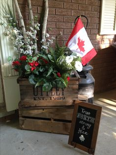 Jenn's Random Scraps: Get Your Canada Day On Christmas Window Boxes, Christmas Porch, Christmas Holidays, Xmas, Canada Day 150, O Canada, Canadian Things, Canadian Flags, Canadian Memes