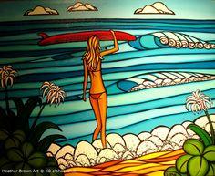 heather brown surf art   Heather Brown