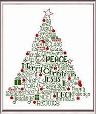 Image result for cross stitch christmas tree pattern free
