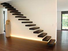 Kragarmtreppe Cliffhanger 3.0 von spitzbart treppen, treppe, designtreppe, schwebende Stufen, innentreppe, holztreppe, holzstufen, stufen