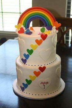 How To Make a Rainbow Birthday Cake - Novelty Birthday Cakes Rainbow Parties, Rainbow Birthday Party, Rainbow Theme, Lego Birthday, Novelty Birthday Cakes, Birthday Cake Girls, Birthday Ideas, Fondant Cakes, Cupcake Cakes