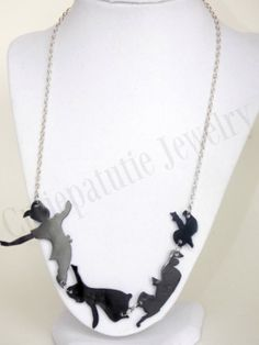Peter Pan Silhouette Necklace by cassjewelryboutique on Etsy