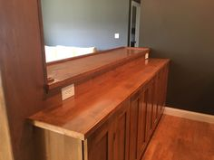 Kitchen island with wood countertop concept