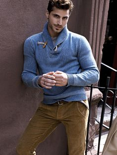 Love not only the sweater, but also the color combo between it and the corduroys.
