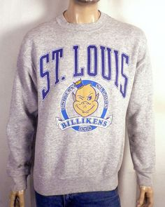 vtg 80s Galt Sand RARE SLU St Louis Billikens Sweatshirt NCAA sz L. School  Clothing 7671a943f