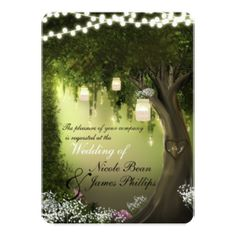 Enchanted Forest Quinceanera Invitations enchanted forest