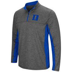 Duke Blue Devils Colosseum Charcoal Gray & Blue Milton 1/4 Zip LS Windshirt
