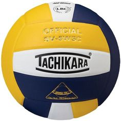 Tachikara Official SV5WSC Microfiber Composite Leather Volleyball,... ($40) ❤ liked on Polyvore featuring gold white navy