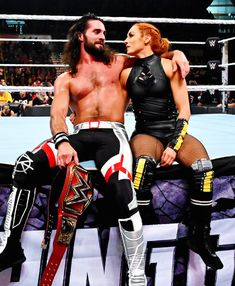 WWE Superstars Seth Rollins (Colby Lopez) with his girlfriend Wwe Seth Rollins, Seth Freakin Rollins, Paige Wwe, Becky Lynch, Female Wrestlers, Wwe Wrestlers, Wwe Superstars, Becky Wwe, Wwe Couples