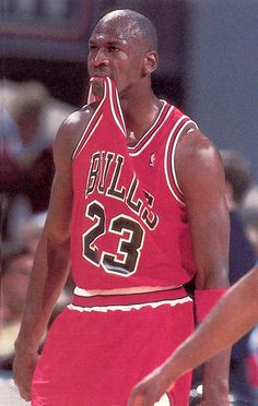 Michael Jordan When the ref calls a stupid call-_-