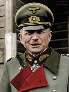 """Heinz Guderian """"Fast Heinz"""" (June 17th 1888 - May 14th 1954) Guderian was Generaloberst during the World War II. He's one of the most famous German generals."""
