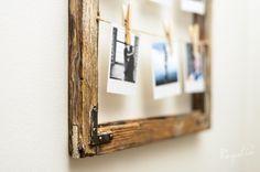 drewniana rama ze starego drewna stare deski