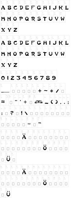 Ninja font-links to huge site of free fonts