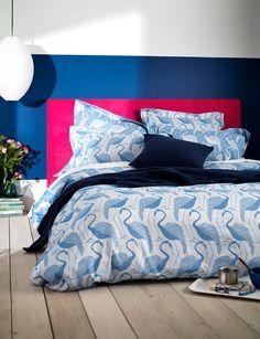 Flamingos Blue Duvet Cover by Secret Linen Store Blue Rooms, Home Bedroom, Blue Bedding, Cotton Bedding Sets, Bedroom Inspirations, Bed, Bedroom Decor, Bedroom Layouts, Bold Bedroom