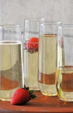 Drop a strawberry in & watch the champagne fizz.