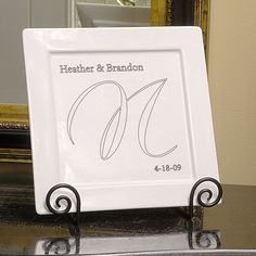 Personally Engraved Gifts  - Elegance Square Platter