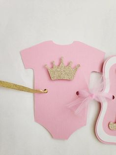 Princess Baby Shower Banner, Pink and Gold Banner on Etsy, $20.00