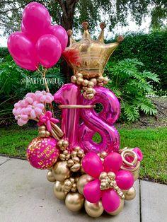 Balloon Crafts, Birthday Balloon Decorations, Balloon Gift, Balloon Garland, Birthday Balloons, Balloon Arrangements, Balloon Centerpieces, Birthday Event Ideas, Birthday Parties