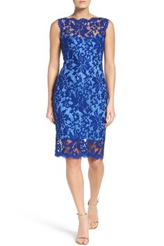 Tadashi Shoji - Embroidered Lace Sheath Dress is now 25% off. Free Shipping on orders over $100.