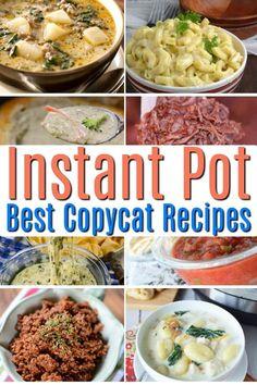 Chipotle Copycat Recipes, Copykat Recipes, Fondue Recipes, Crockpot Recipes, Using A Pressure Cooker, Pressure Cooker Recipes, Pressure Pot, Slow Cooker, Cat Soup Recipe
