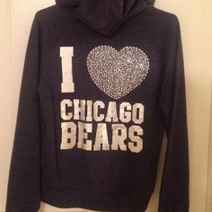 Brand New VS Chicago Bears Zip Still has the tags on it and never worn before! Super adorable. Accepting offers. PINK Victoria's Secret Sweaters