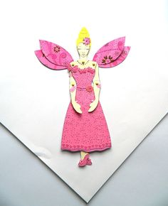 Fairy Princess Doll Fairy Paper Doll Jointed by JuliaPeculiar
