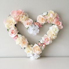 Hey, I found this really awesome Etsy listing at https://www.etsy.com/listing/486106692/heart-decor-floral-heart-heart-wall