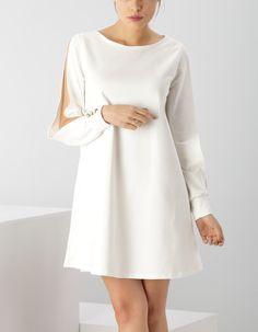 Sukienka z wycięciem na rękawach - CINAMOON - Polski producent