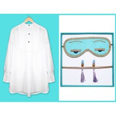 Relive the magic that is Audrey Hepburn as Holly Golightly in Breakfast at Tiffany's in this iconic sleepwear ensemble.This 3-piece set comes complete with the signature tuxedo sleep shirt (handmade