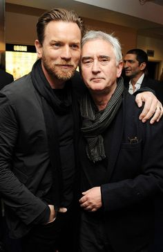 Ewan McGregor (Obi-Wan Kenobi) and his uncle Denis Lawson (Wedge Antilles from the Original Trilogy -- the only other X-Wing pilot to survive both Death Star assaults)