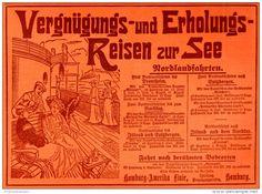 Original-Werbung/ Anzeige 1906 - NORDLANDFAHRTEN / HAMBURG-AMERIKA LINIE - ca. 180 X 130 mm