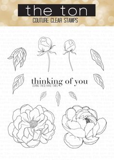 Digital stamp flowers set onies deffodilspoppiesly of the loose peonies altavistaventures Image collections