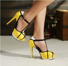 Color Matching and Geometric Pattern Sandals