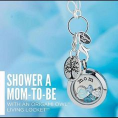 Origami Owl ... a locket with a story about a new addition ... welcome baby boy !