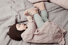 Boots & Booties – Blush pink Merino wool booties for babies – a unique product by VaidaPetreikis on DaWanda
