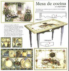 Mis Trabajos en miniatura: Mesa y armario de cocina