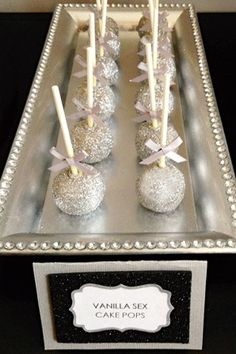 Silver Ball Cake Pops - not sure anyone would actually eat them if they read the books?